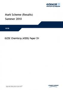 Mark Scheme (Results) Summer 2010 - FreeExamPapers