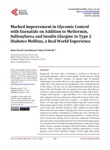Marked Improvement in Glycemic Control with