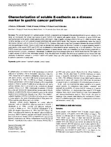 marker in gastric cancer patients - BioMedSearch
