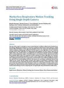 Markerless Respiratory Motion Tracking Using Single Depth Camera