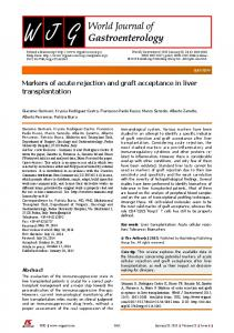 Markers of acute rejection and graft acceptance in liver ... - F6Publishing