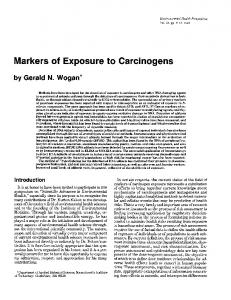 Markers of Exposure to Carcinogens - BioMedSearch