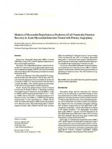 Markers of myocardial reperfusion as predictors ... - Wiley Online Library