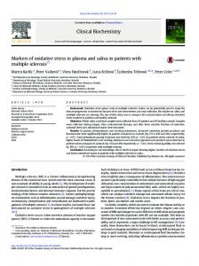 Markers of oxidative stress in plasma and saliva in ...