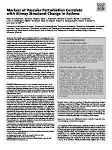 Markers of Vascular Perturbation Correlate with Airway ... - ATS Journals