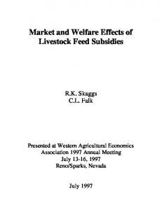 Market and Welfare Effects of Livestock Feed ... - AgEcon Search