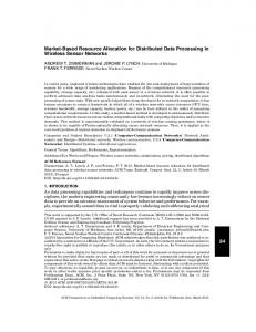 Market-based resource allocation for distributed ... - Semantic Scholar