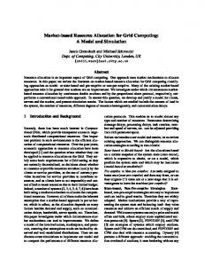 Market-based Resource Allocation for Grid Computing: A ... - CiteSeerX