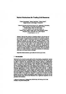 Market Mechanisms for Trading Grid Resources - Network ...