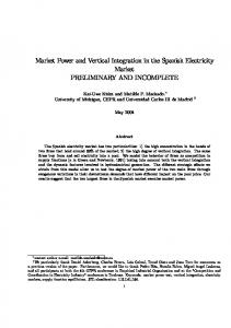 Market Power and Vertical Integration in the Spanish Electricity Market
