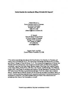 Market Reaction Surrounding the Filing of Periodic ... - SSRN papers