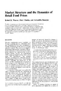 Market Structure and the Dynamics of Retail Food Prices - Core
