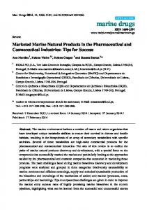 Marketed Marine Natural Products in the