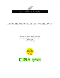 marketing 101 manual an introduction to basic marketing practices