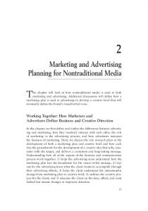 Marketing and Advertising Planning for Nontraditional Media