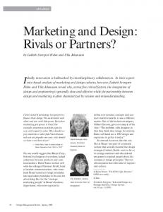Marketing and Design: Rivals or Partners?