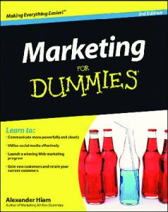 Marketing for Dummies 3rd Edition 2009 - Lifecycle Performance Pros