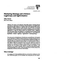 Marketing ideology and criticism: Legitimacy and ... - CiteSeerX