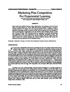 Marketing Plan Competition for Experiential Learning.