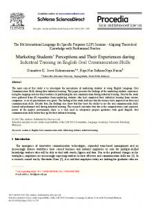 Marketing Students' Perceptions and Their