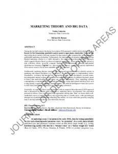 marketing theory and big data