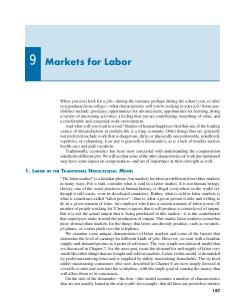 Markets for Labor - Tufts University