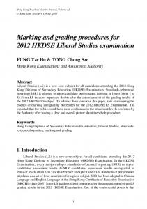Marking and grading procedures for 2012 HKDSE ... - Edb.org.hk