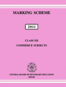 marking scheme class xii (commerce) - Central Board of Secondary ...