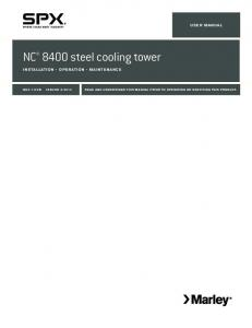 Marley NC 8400 Steel Cooling Tower Installation, Operation and ...