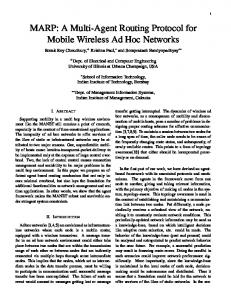 MARP: A Multi-Agent Routing Protocol for Mobile ... - Semantic Scholar
