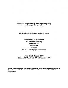 Married-Couple Family Earnings Inequality in Canada