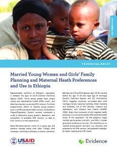 Married Young Women and Girls' Family Planning and Maternal Heath ...