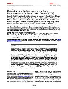 MARS Calibration and Performance of the Mars ... - Semantic Scholar