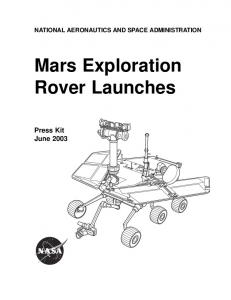 Mars Exploration Rover Launch Press Kit