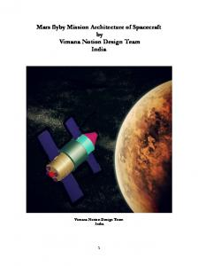 Mars flyby Mission Architecture of Spacecraft by