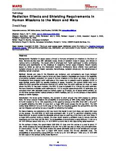 MARS Radiation Effects and Shielding ... - The Mars Journal