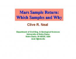 Mars Sample Return: Which Samples and Why