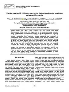 Martian cratering 12. Utilizing primary crater ... - Wiley Online Library