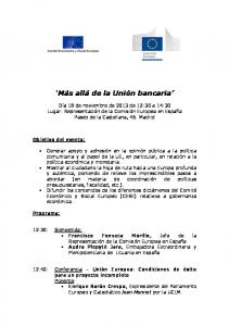 'Más allá de la Unión bancaria' - EESC European Economic and ...