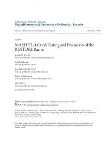 MASH TL-4 Crash Testing and Evaluation of the