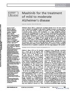 Masitinib for the treatment of mild to moderate Alzheimer's disease