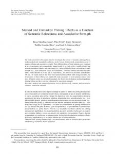 Masked and Unmasked Priming Effects as a