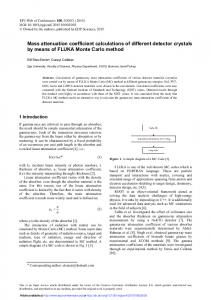 Mass attenuation coefficient calculations of different ...