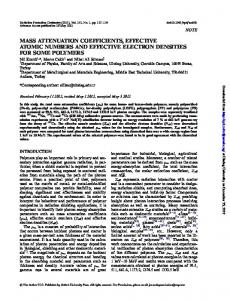 mass attenuation coefficients, effective atomic numbers and effective ...