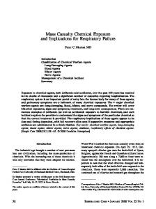 Mass Casualty Chemical Exposure and ... - Respiratory Care