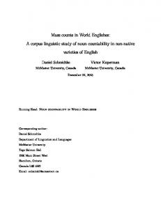 Mass counts in World Englishes: A corpus linguistic ...