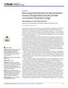 Mass drug administration for the prevention human