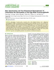 Mass Spectrometry and Two-Dimensional ... - ACS Publications