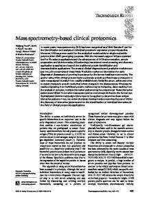 Mass spectrometry-based clinical proteomics - Future Medicine