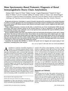 Mass Spectrometry-Based Proteomic Diagnosis of Renal ...